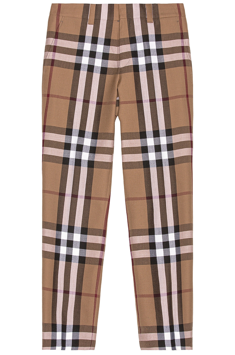 Image 1 of Burberry Check Trousers in Birch Brown Check