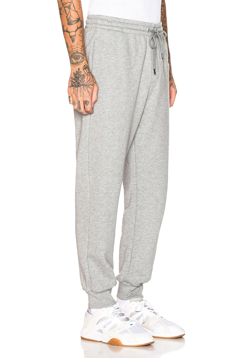Image 3 of Burberry Munley Logo Sweatpants in Pale Grey