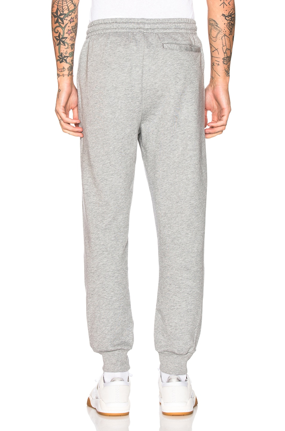 Image 4 of Burberry Munley Logo Sweatpants in Pale Grey