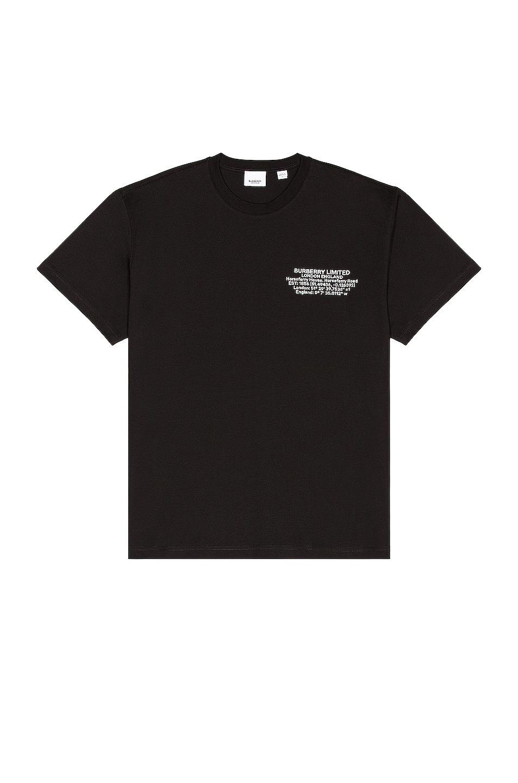 Image 1 of Burberry Abel Tee in Black