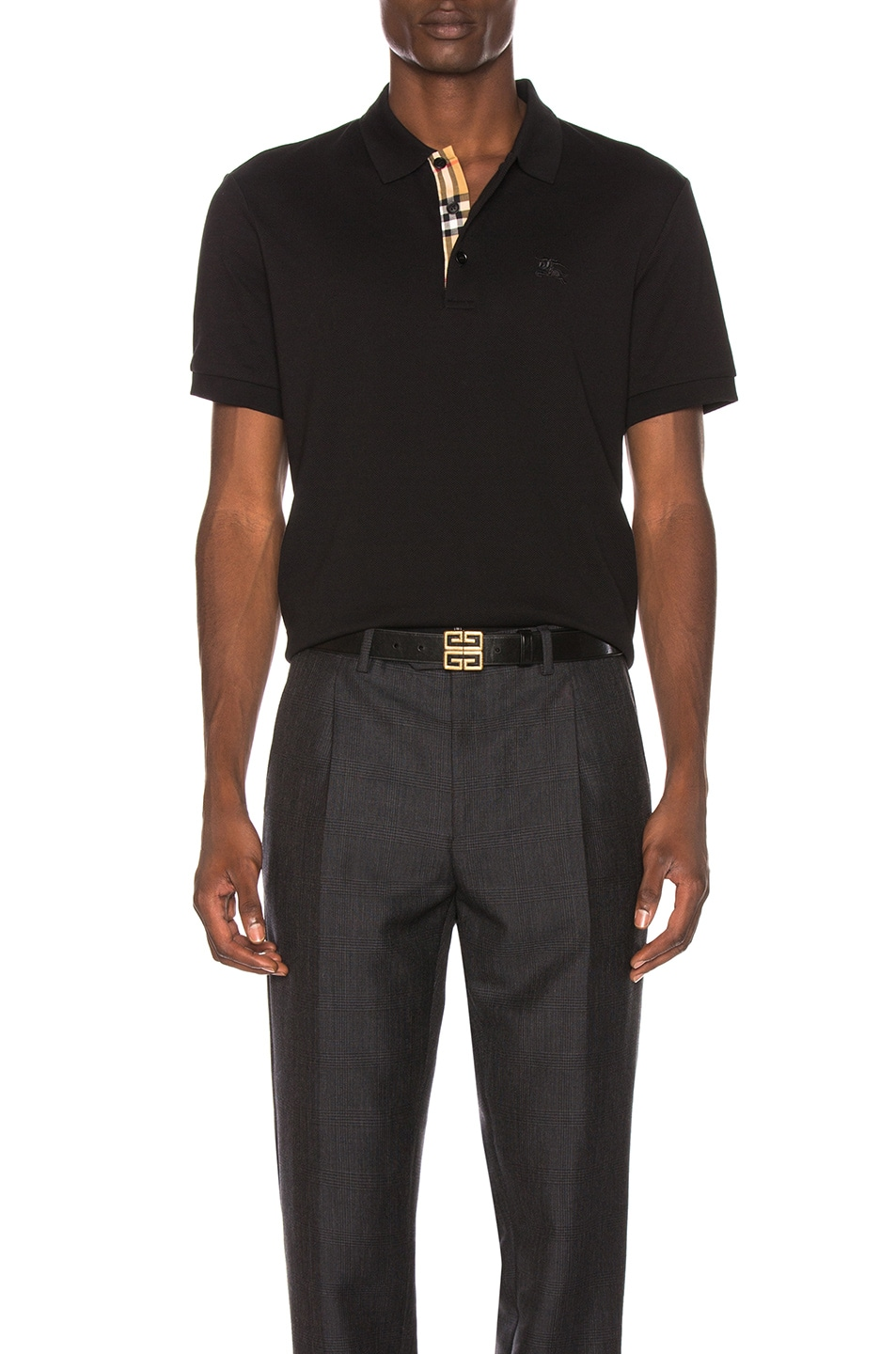 Image 1 of Burberry Hartford Polo in Black