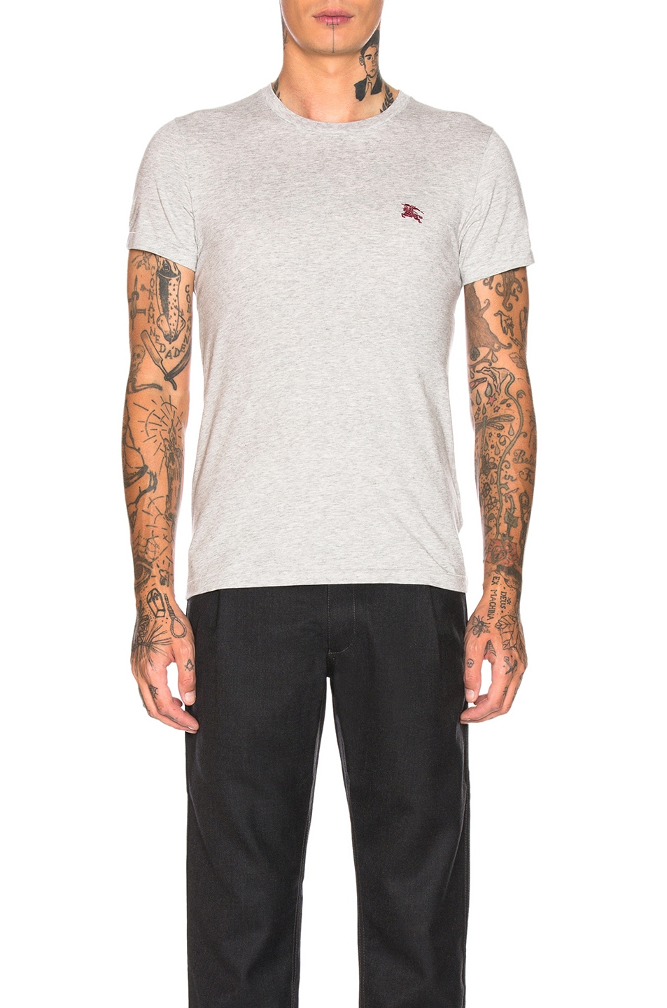 Image 1 of Burberry Joeforth Tee in Pale Grey