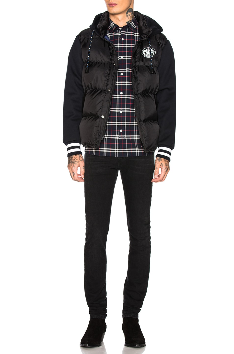 Image 4 of Burberry George Small Scale Checkered Flannel in Navy