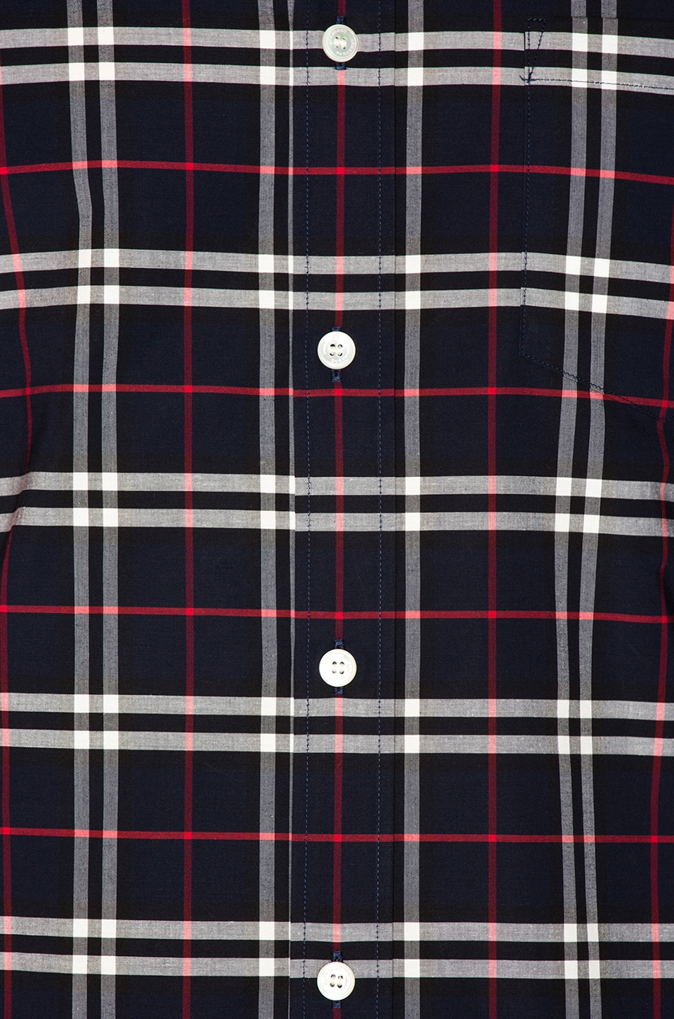 Image 5 of Burberry George Small Scale Checkered Flannel in Navy