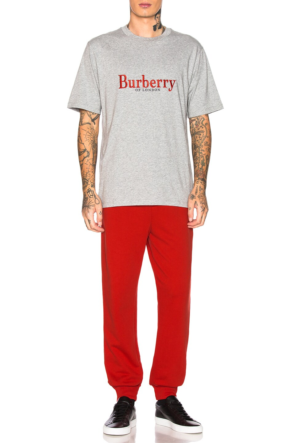 Image 4 of Burberry Lopori Logo Tee in Pale Grey