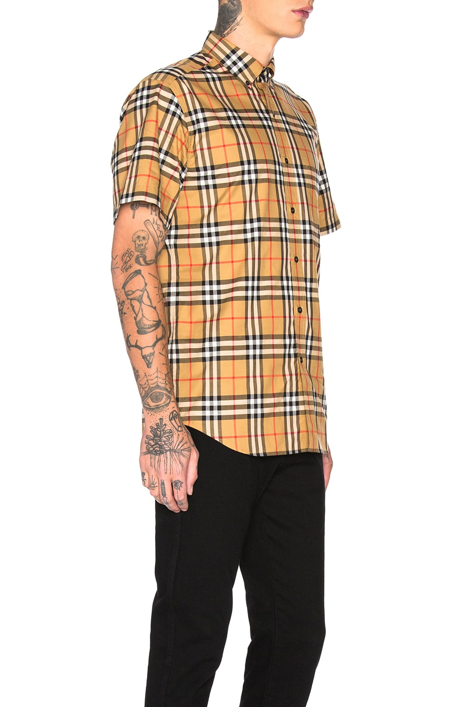 Image 2 of Burberry Jameson Tapered Shirt in Yellow Check