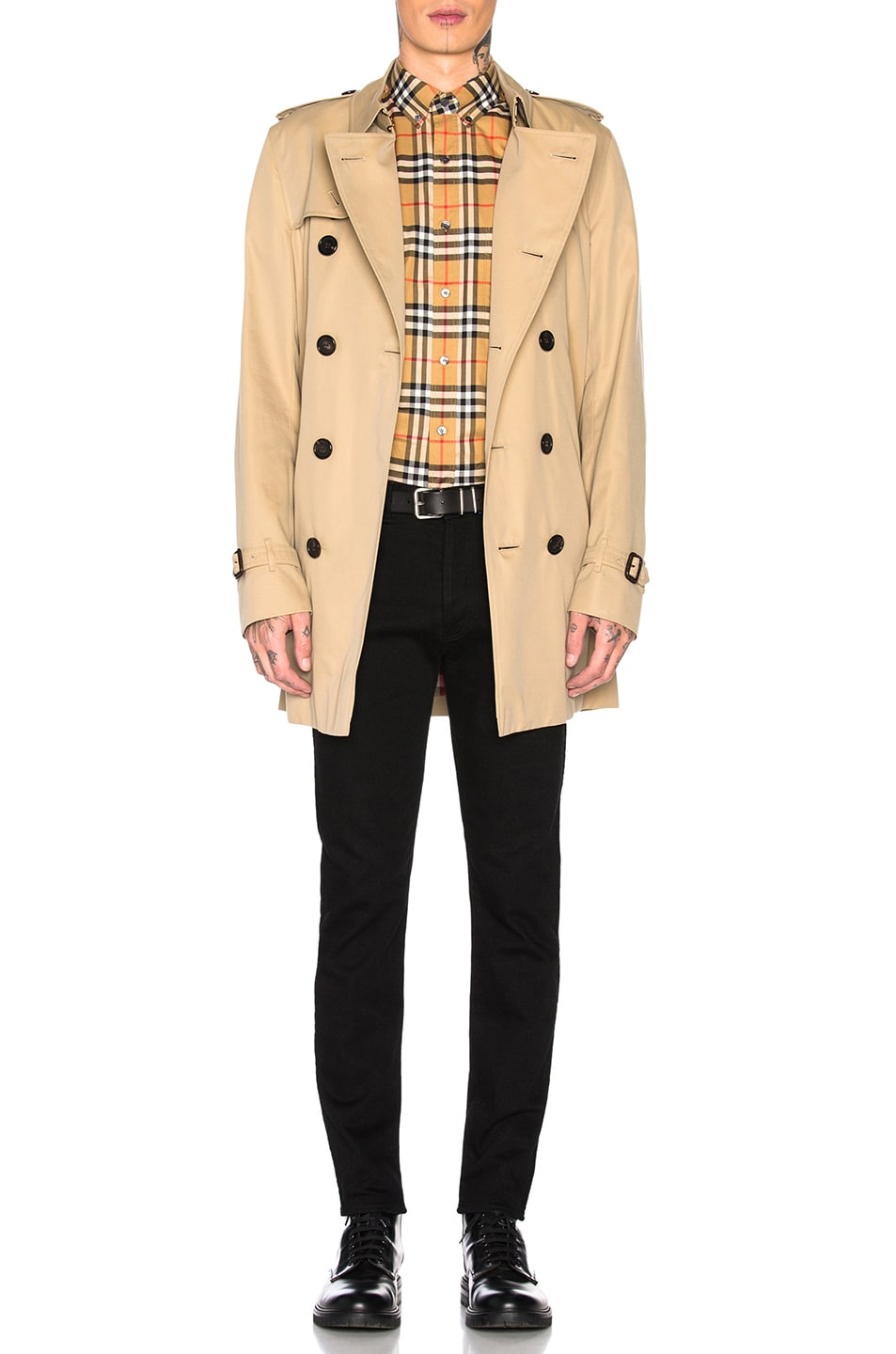 Image 4 of Burberry Jameson Tapered Shirt in Yellow Check