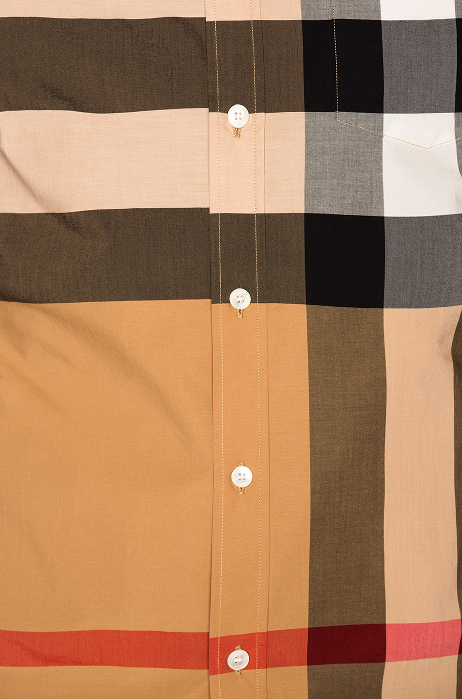 Image 5 of Burberry Giant Exploded Stretch Shirt in Camel Check