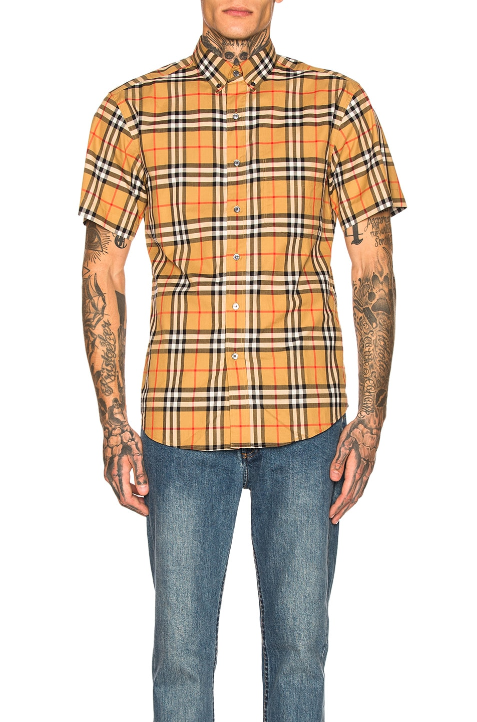 Image 1 of Burberry Vintage Check Shirt in Antique Yellow Check
