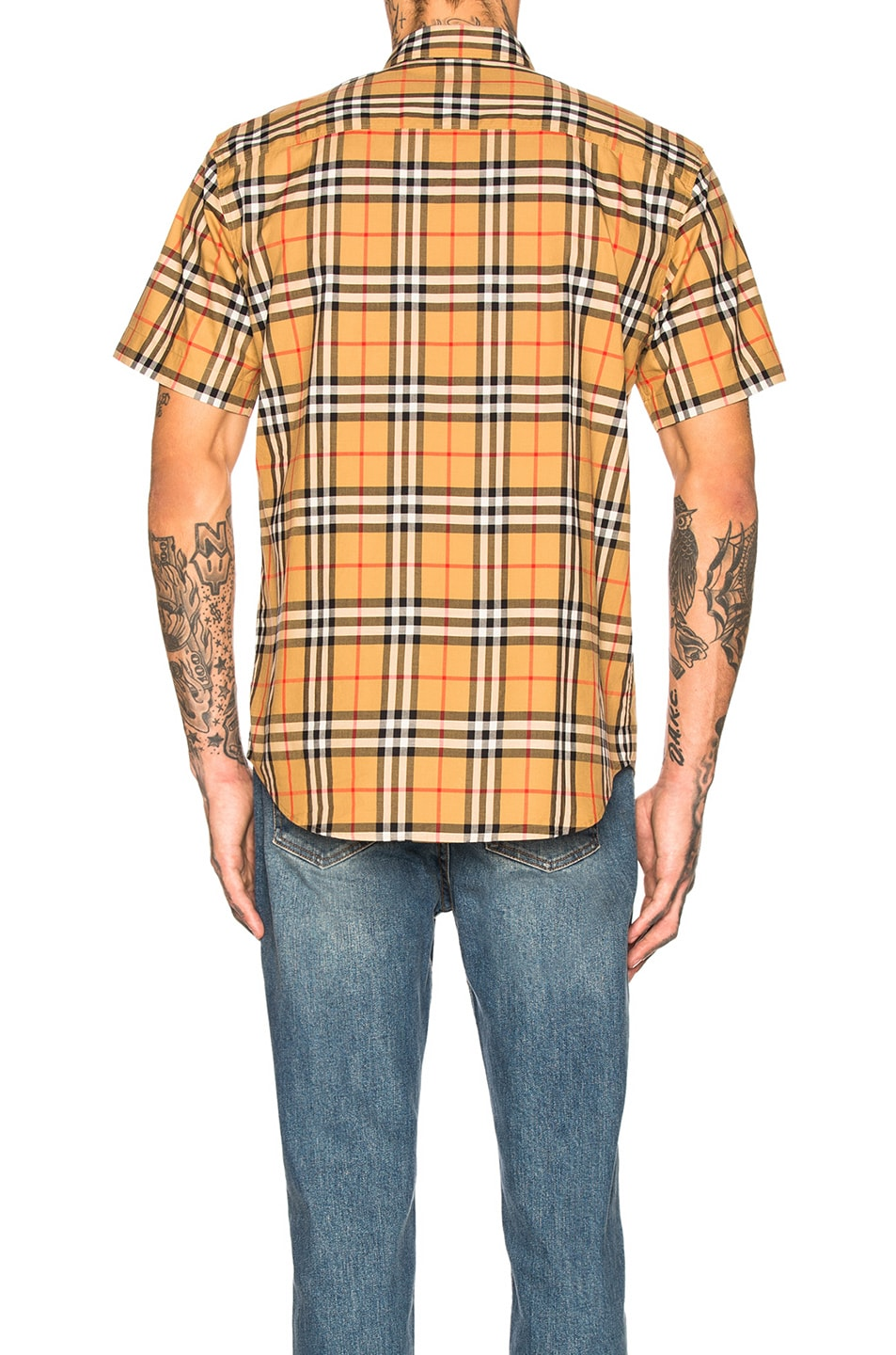 Image 3 of Burberry Vintage Check Shirt in Antique Yellow Check