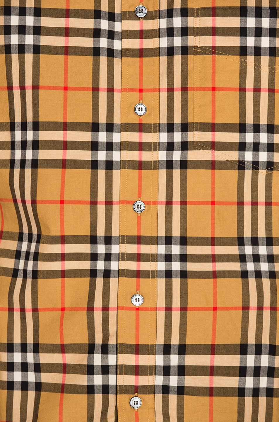 Image 5 of Burberry Vintage Check Shirt in Antique Yellow Check