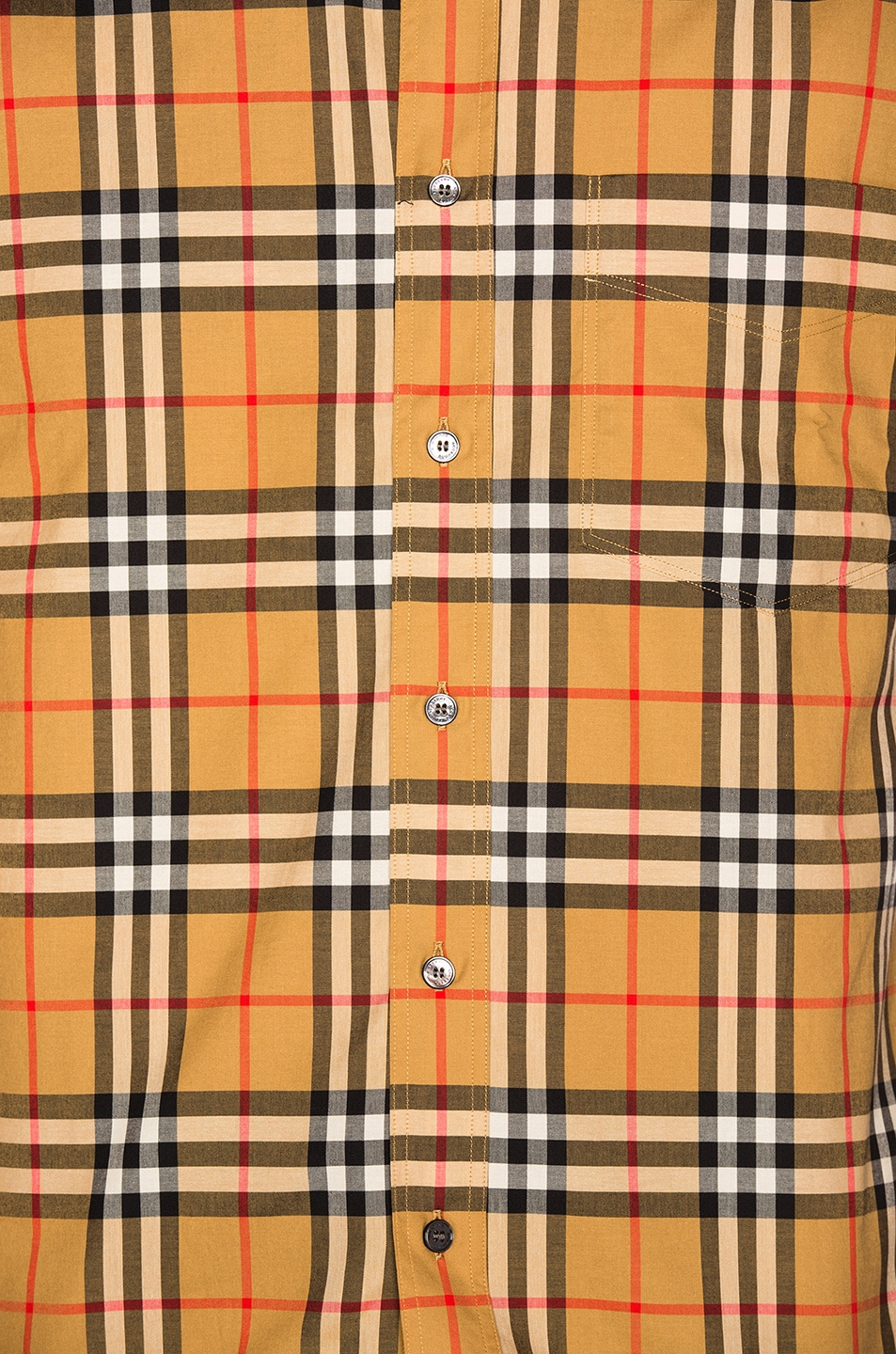 Image 5 of Burberry Long Sleeve Vintage Check Shirt in Antique Yellow Check