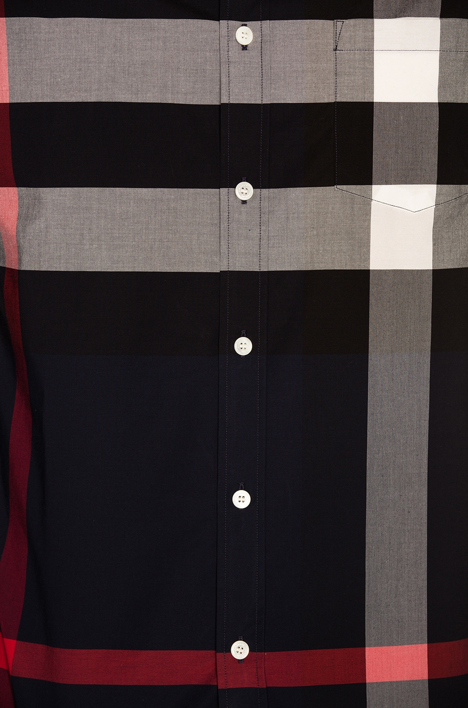 Image 5 of Burberry Giant Exploded Stretch Shirt in Navy Check