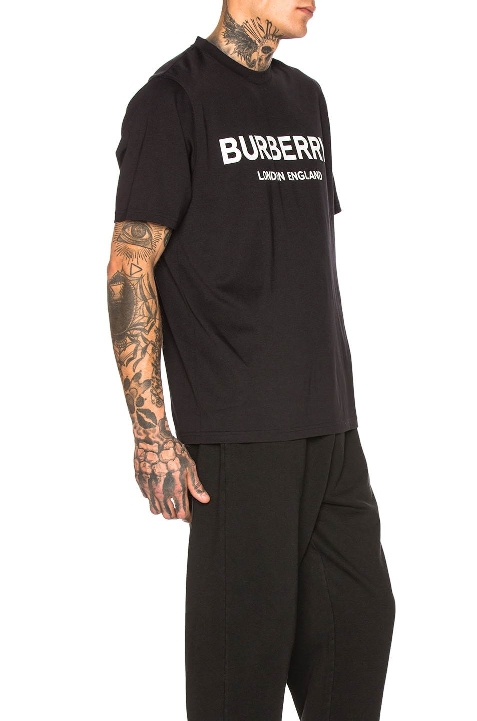 Image 2 of Burberry Logo Print Tee in Black