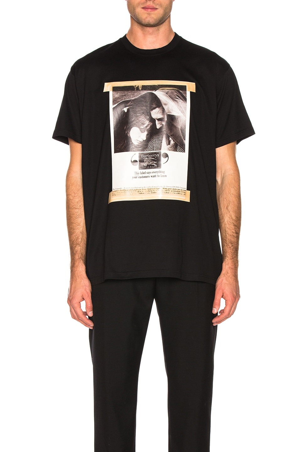 Image 1 of Burberry Archive Photographic Tee in Black