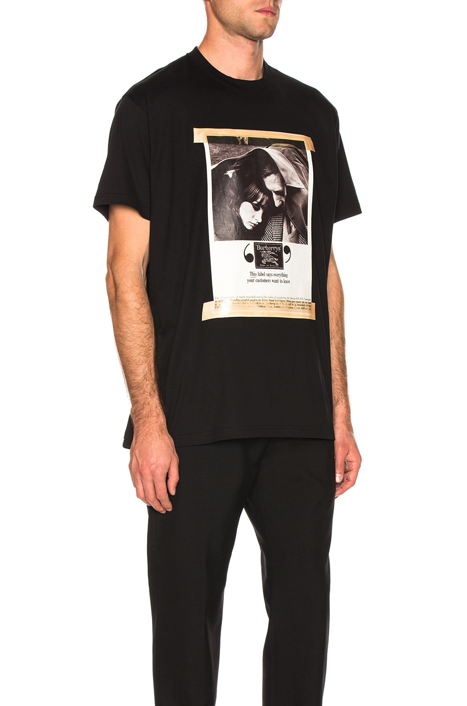 Image 2 of Burberry Archive Photographic Tee in Black