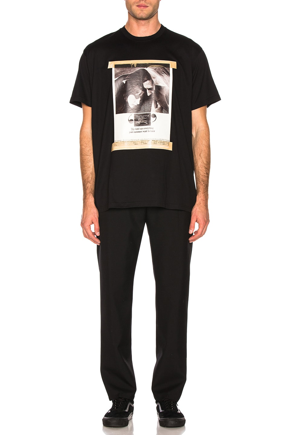 Image 4 of Burberry Archive Photographic Tee in Black