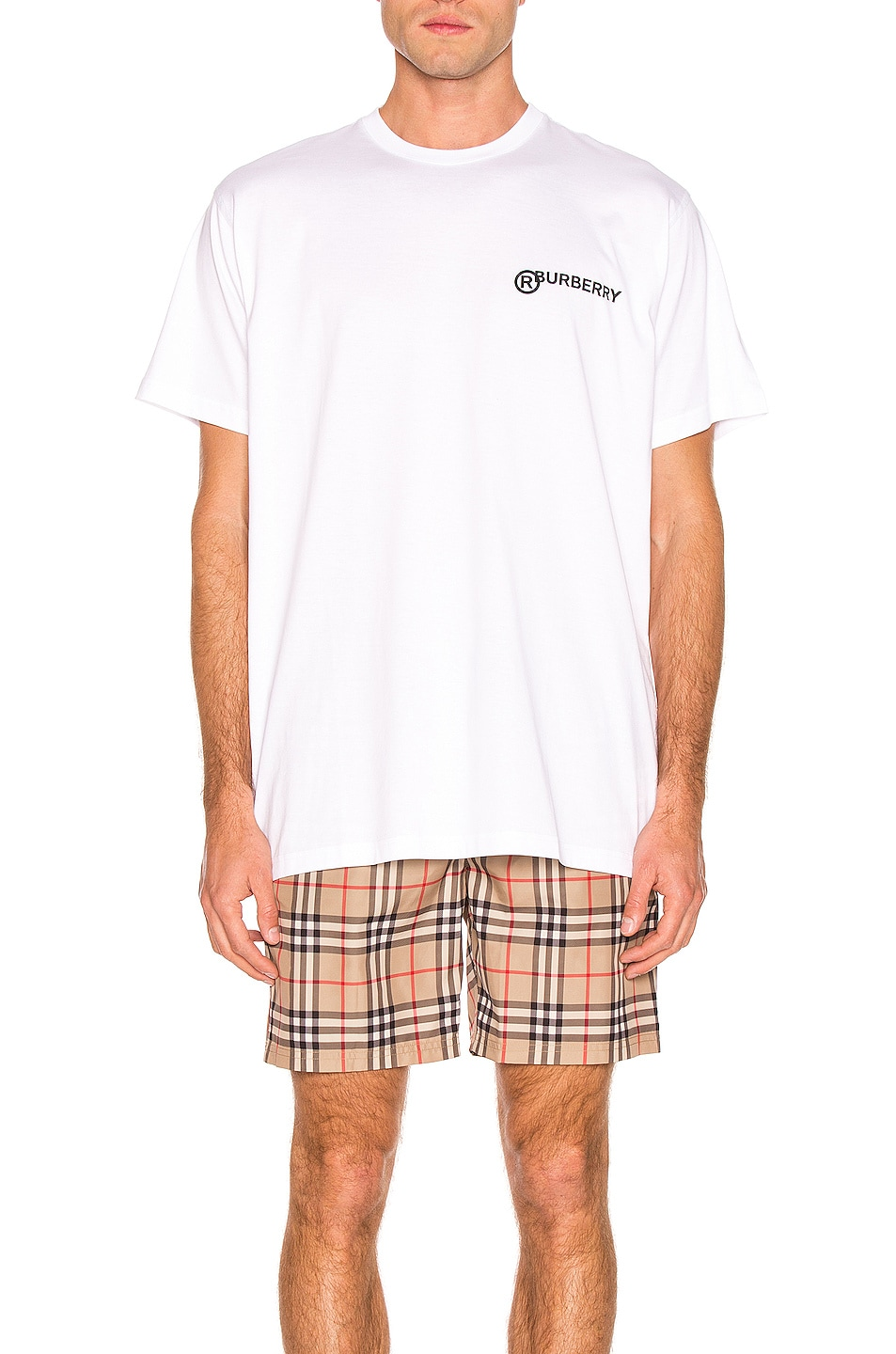 Image 1 of Burberry Registered Tee in Optic White