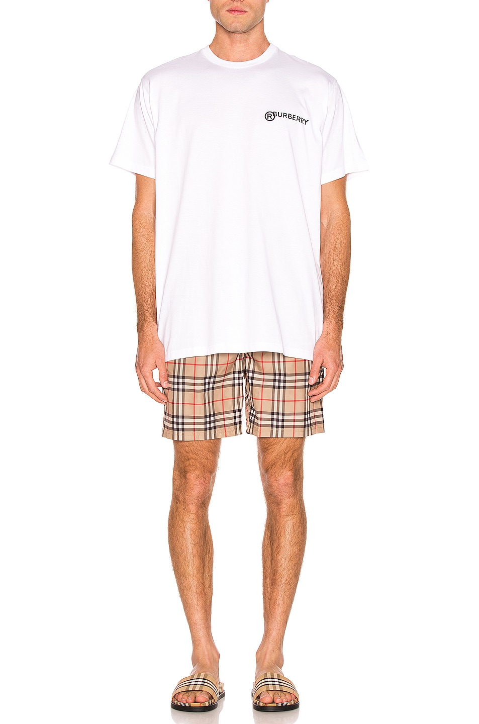 Image 4 of Burberry Registered Tee in Optic White