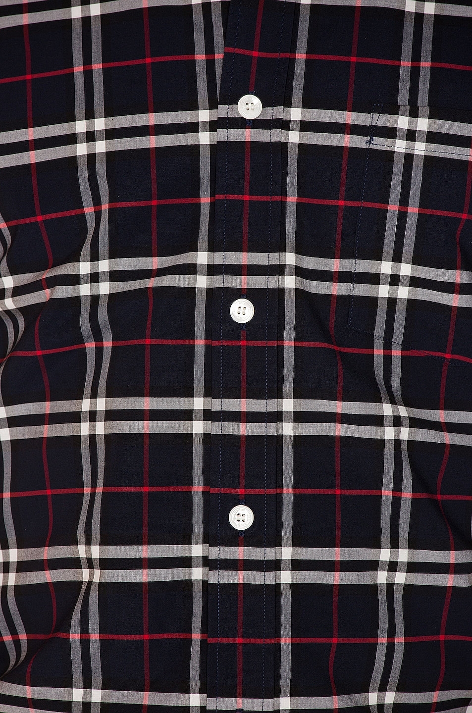 Image 5 of Burberry George Small Stretch Check Shirt in Navy