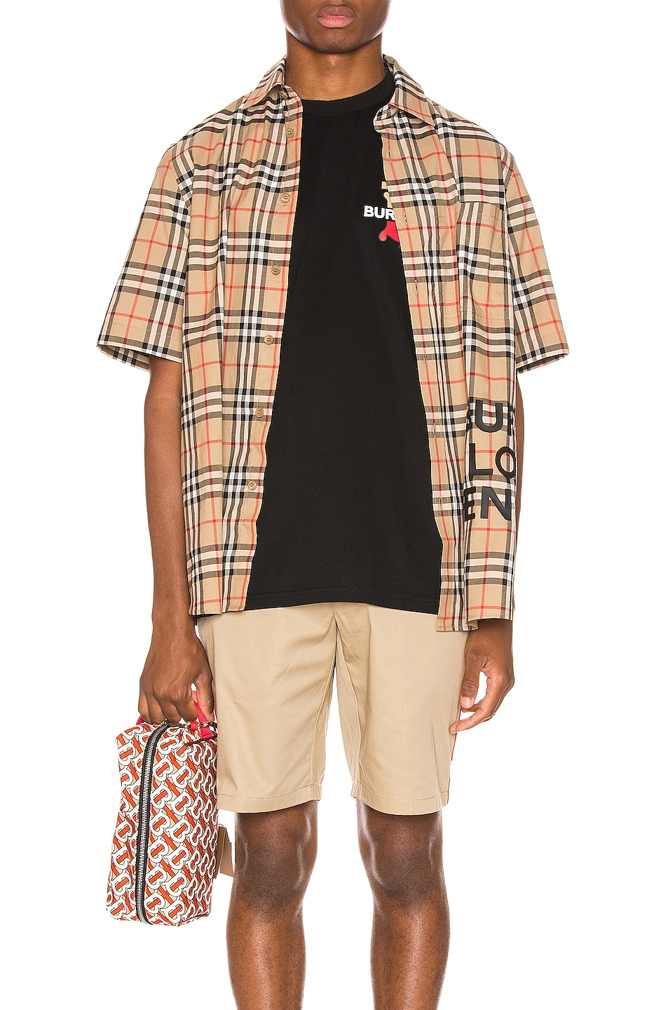 Image 1 of Burberry Sandor Printed Vintage Check Shirt in Archive Beige