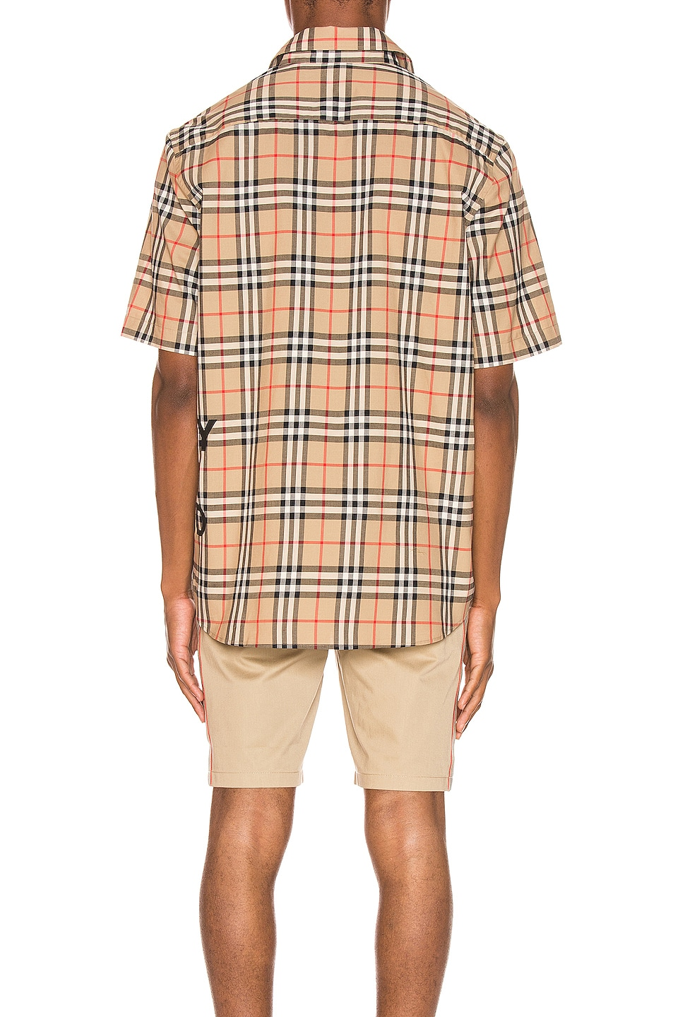 Image 4 of Burberry Sandor Printed Vintage Check Shirt in Archive Beige