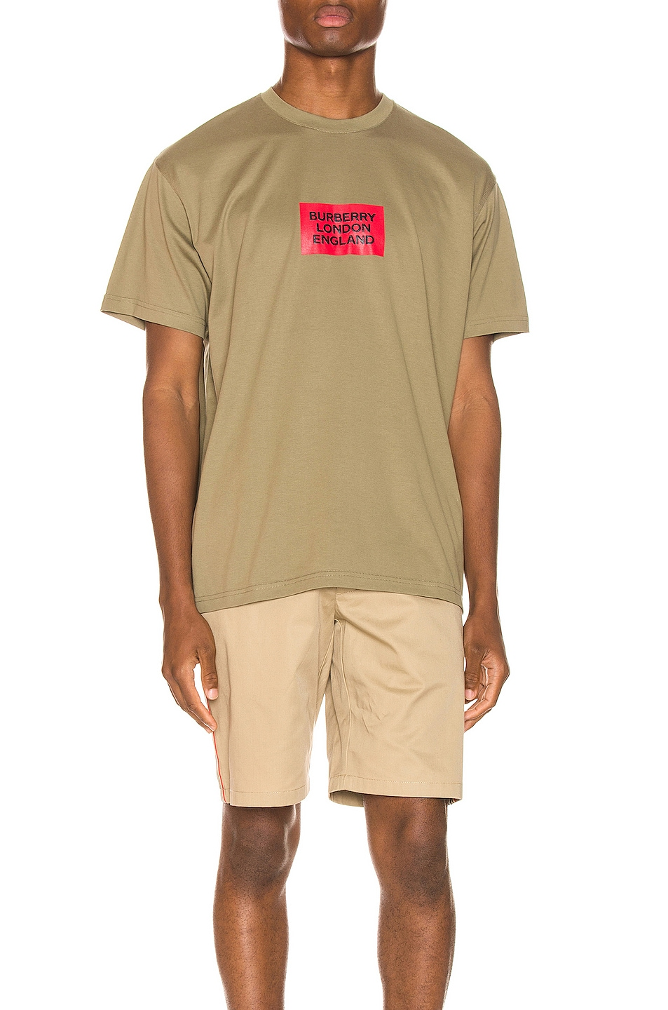 Image 1 of Burberry Fenson Logo Tee in Dark Moss