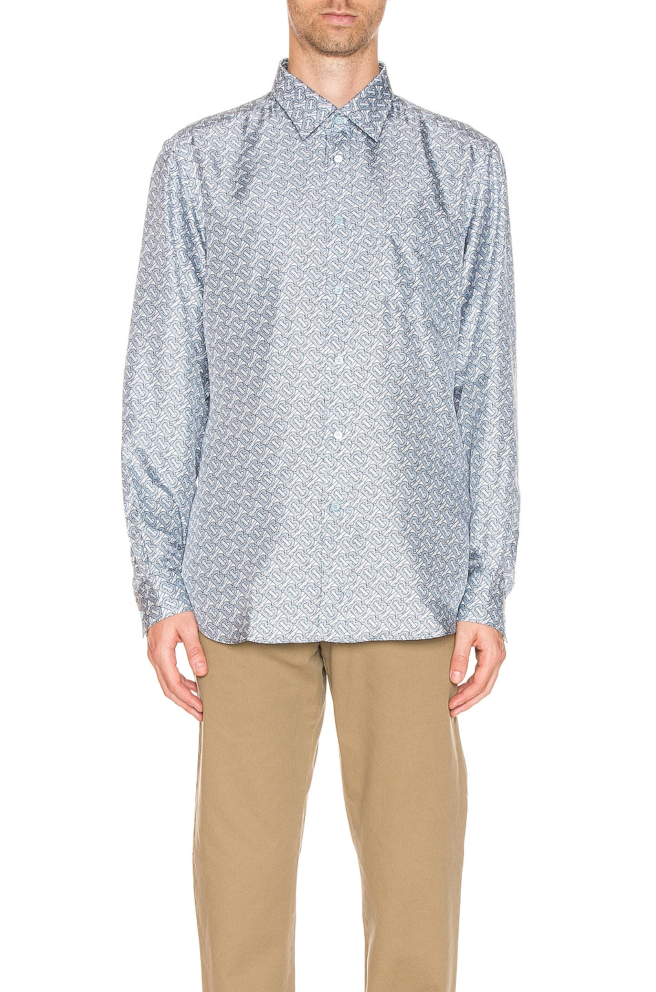 Image 1 of Burberry Classic Formal Shirt in Pale Blue