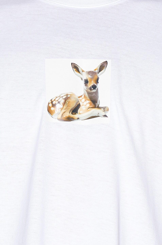 Image 5 of Burberry Devon Deer Tee in White