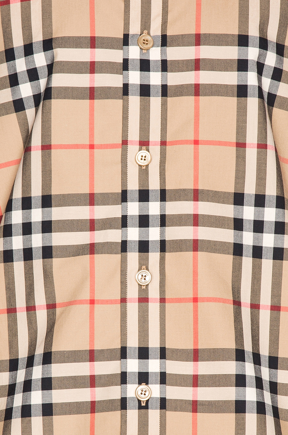 Image 5 of Burberry Long Sleeve Shirt in Archive Beige Check