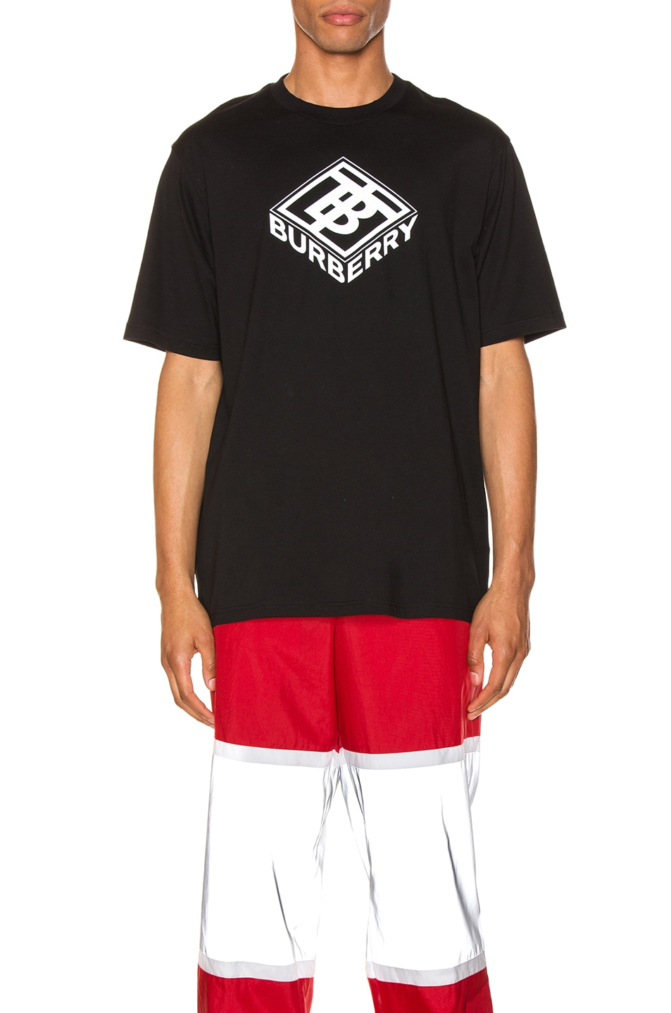 Image 1 of Burberry Graphic Tee in Black