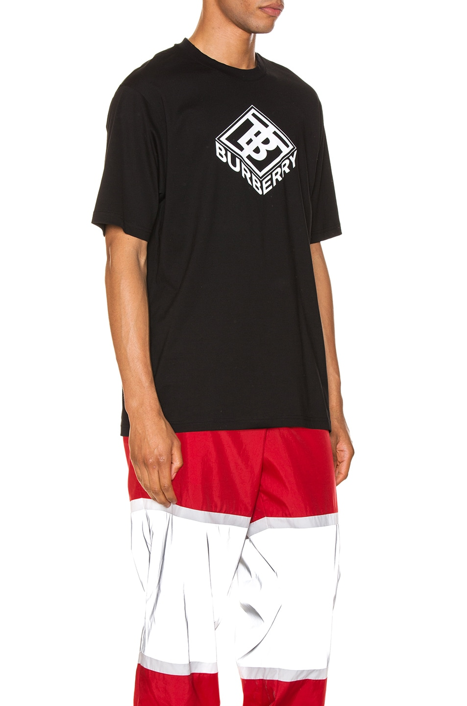 Image 2 of Burberry Graphic Tee in Black