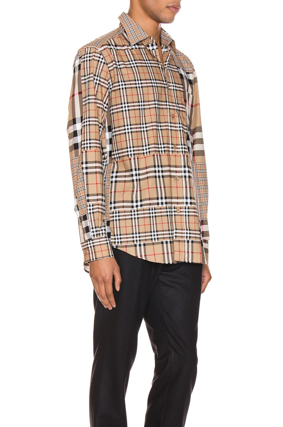 Image 2 of Burberry Long Sleeve Shirt in Archive Beige Check