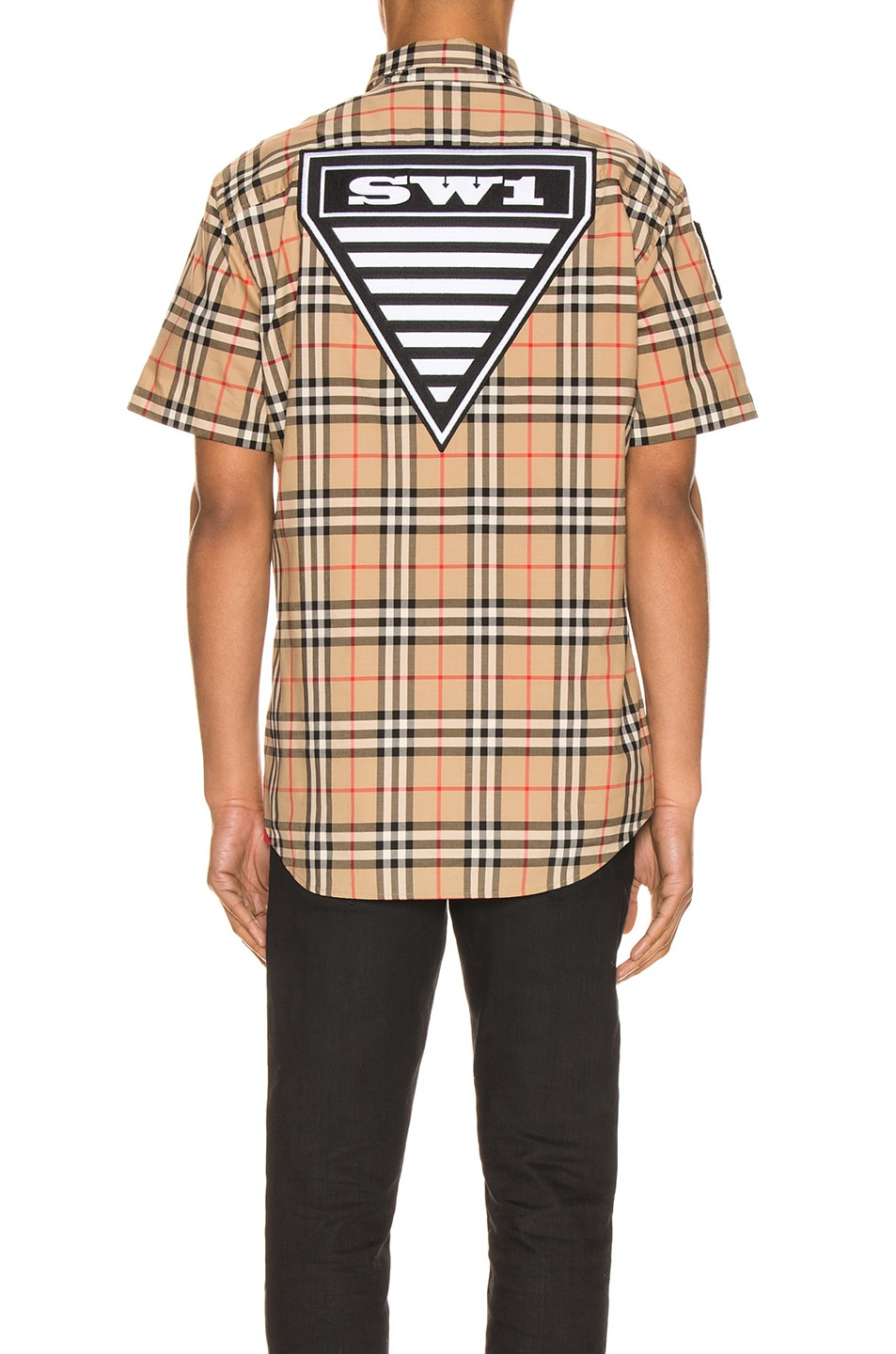 Image 4 of Burberry Combe Short Sleeve Shirt in Archive Beige IP Check