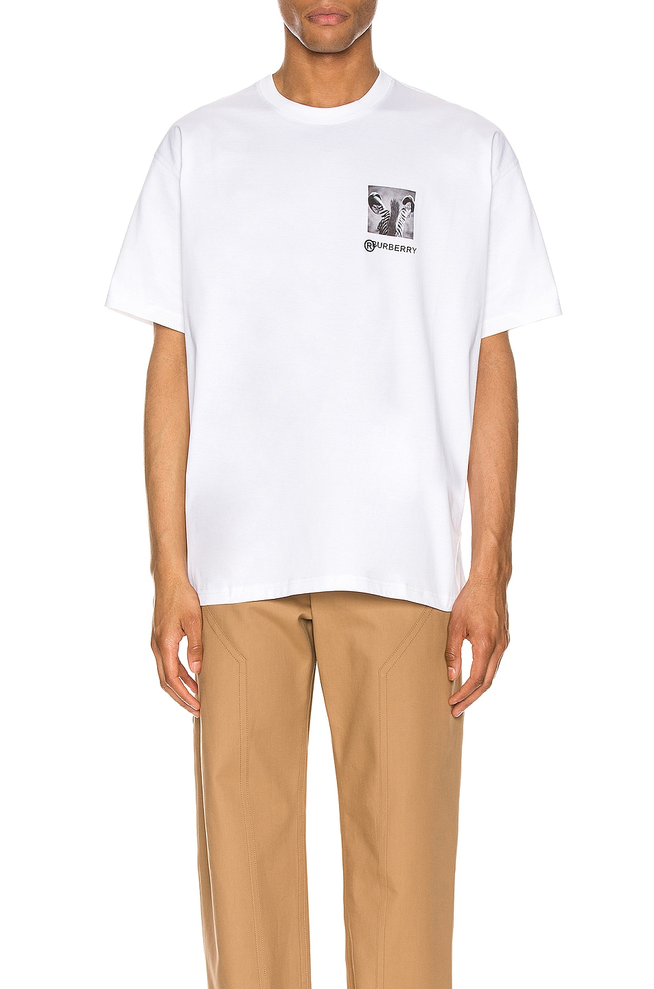 Image 1 of Burberry Branding Tee in Optic White