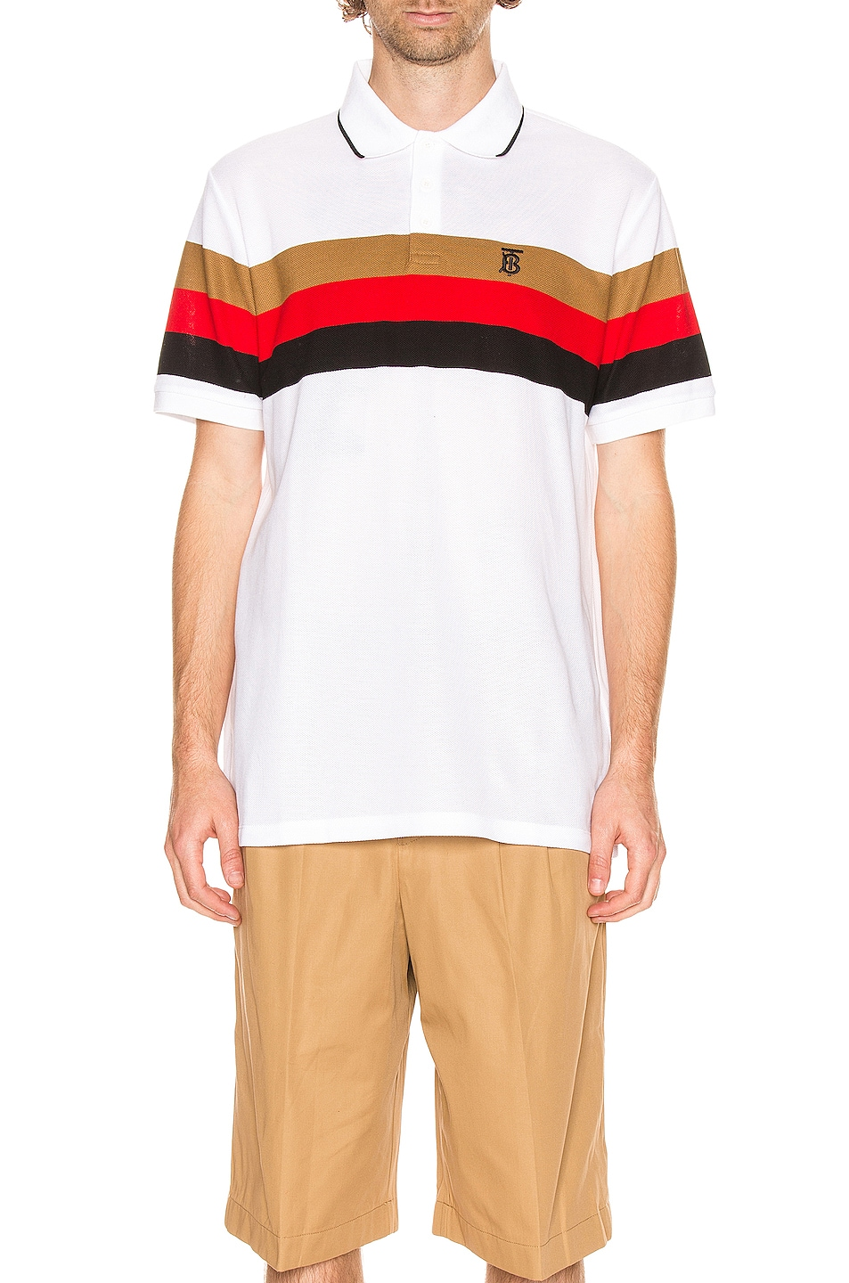 Image 1 of Burberry Treydon Polo in White