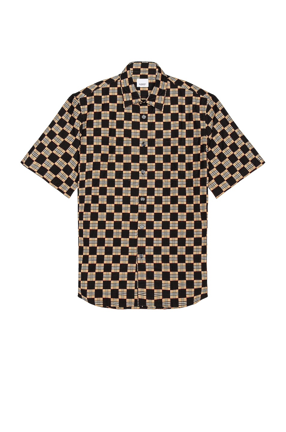 Image 1 of Burberry Trulo Short Sleeve Shirt in Beige