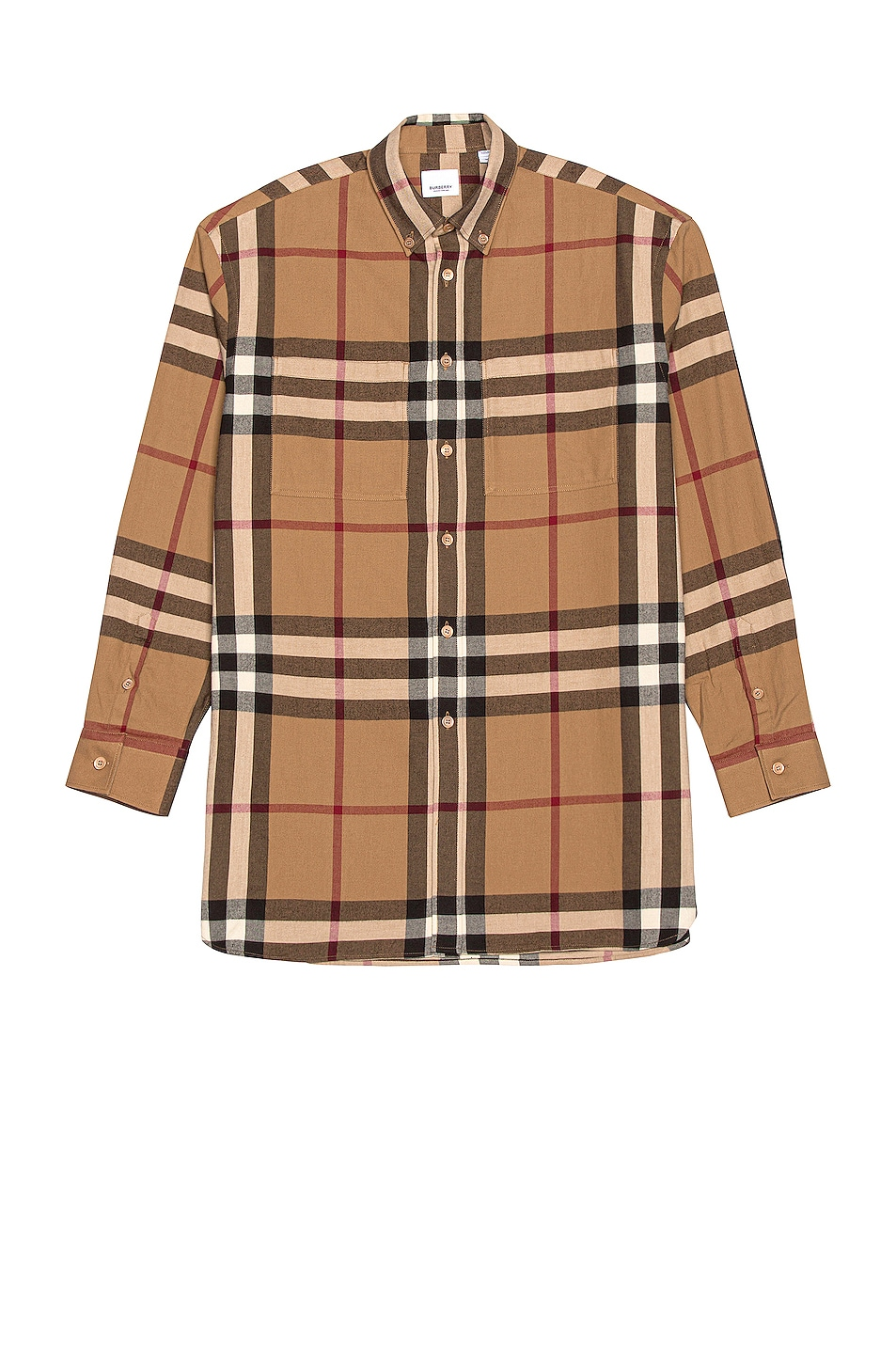 Image 1 of Burberry Long Sleeve Fit Flannel in Multi Check