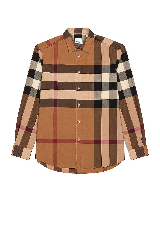 Image 1 of Burberry Chabury Check Shirt in Birch Brown