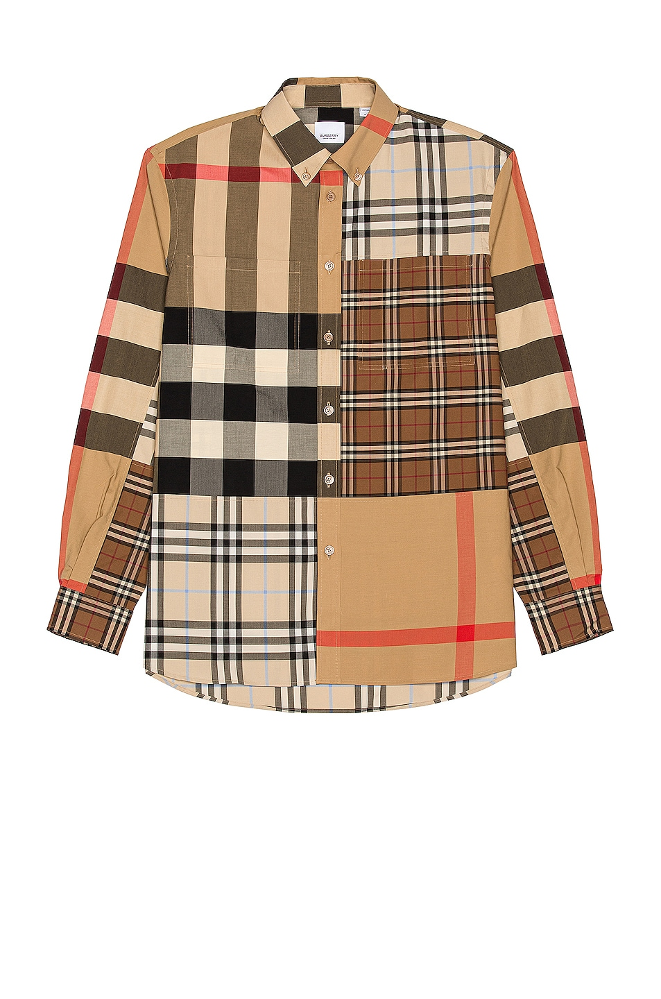 Image 1 of Burberry Terence Shirt in Light Almond
