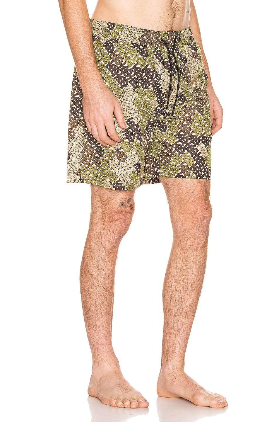 Image 2 of Burberry Guildes Swim Shorts in Khaki Green