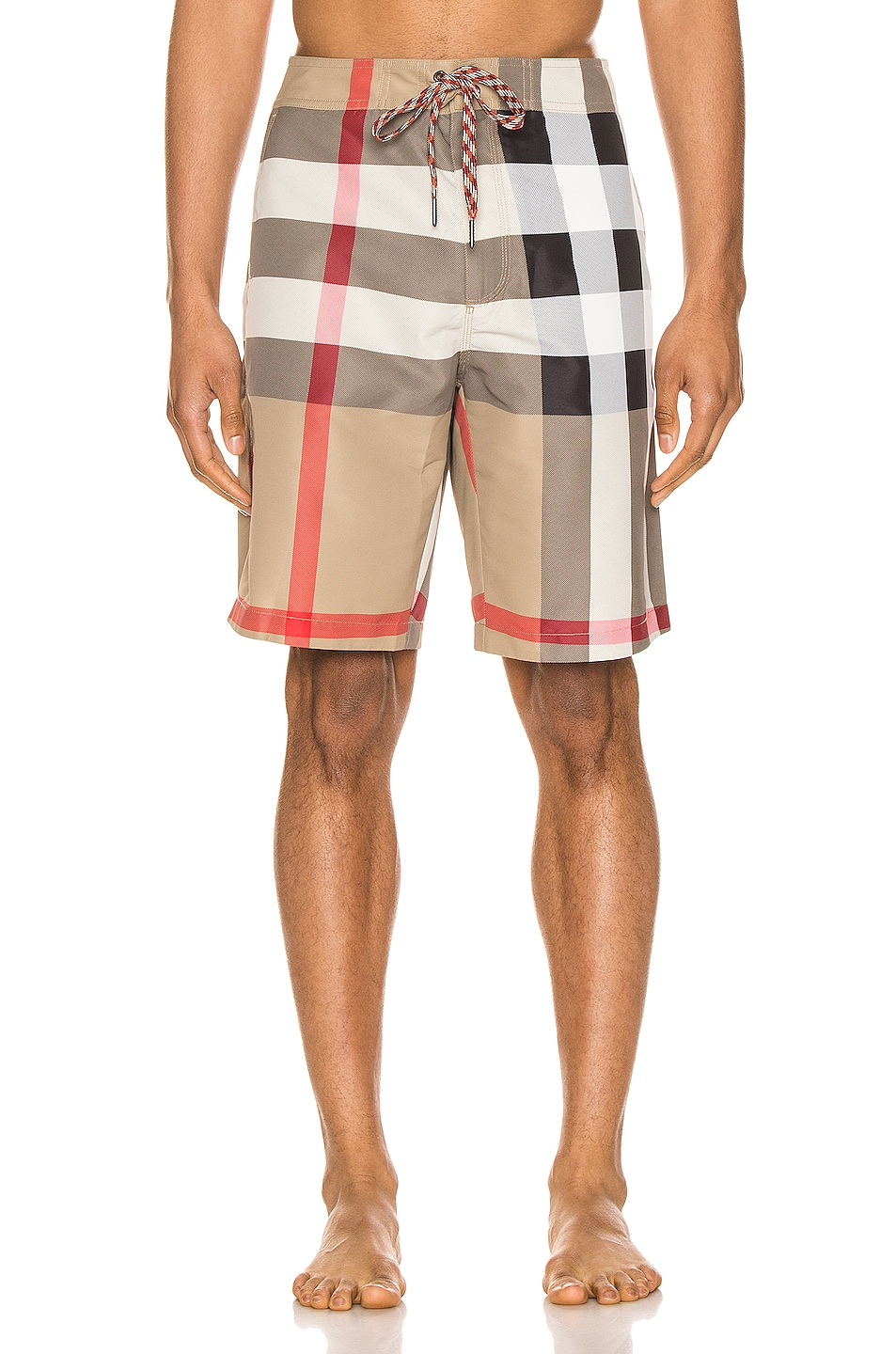 Image 1 of Burberry Breton Shorts in Archive Beige IP Check
