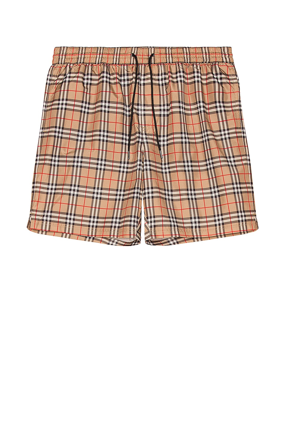 Image 1 of Burberry Guildes Small Scale Check Swim Trunk in Archive Beige