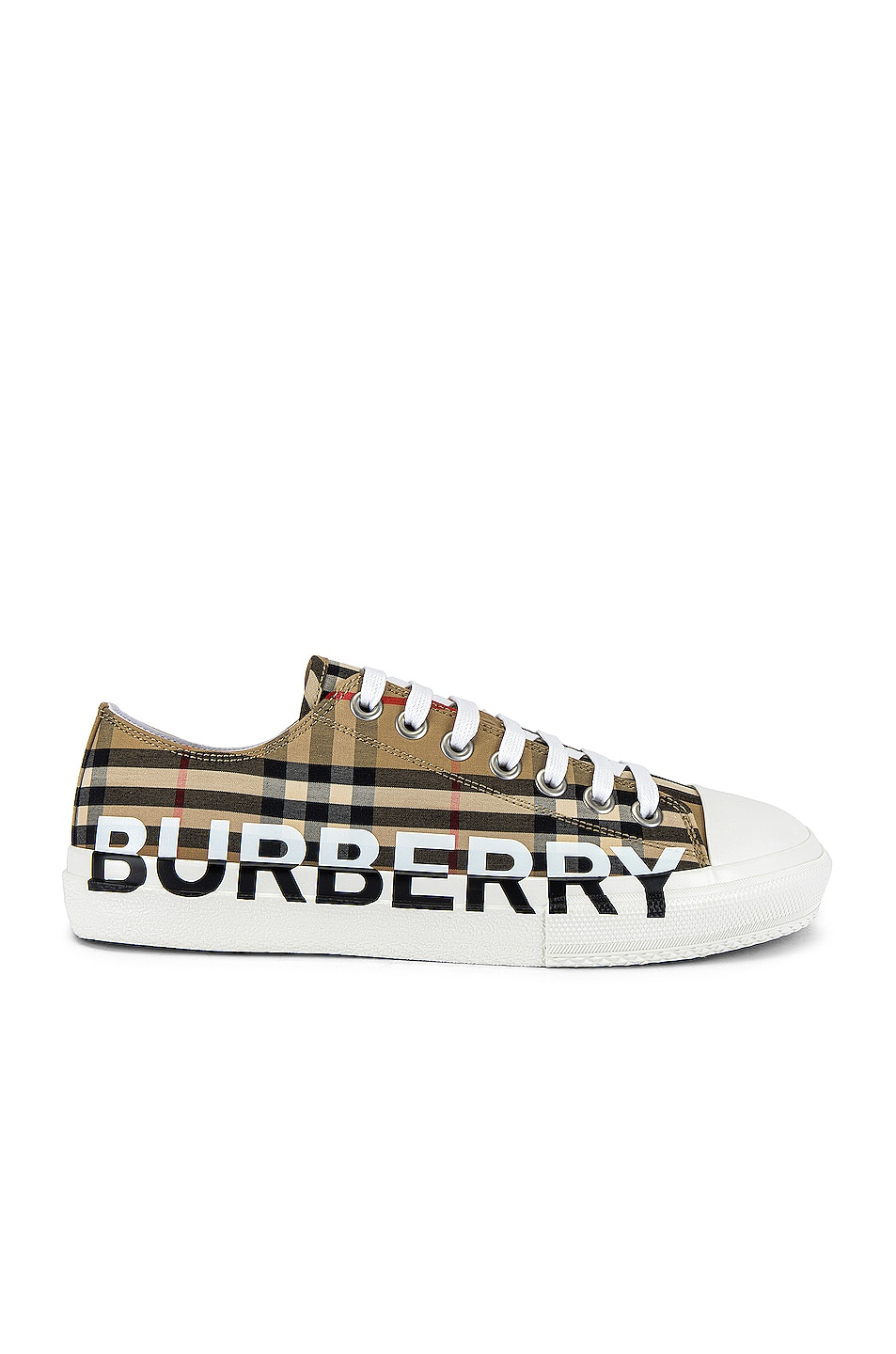 Image 1 of Burberry Larkhall Logo Low Top Sneaker in Archive Beige