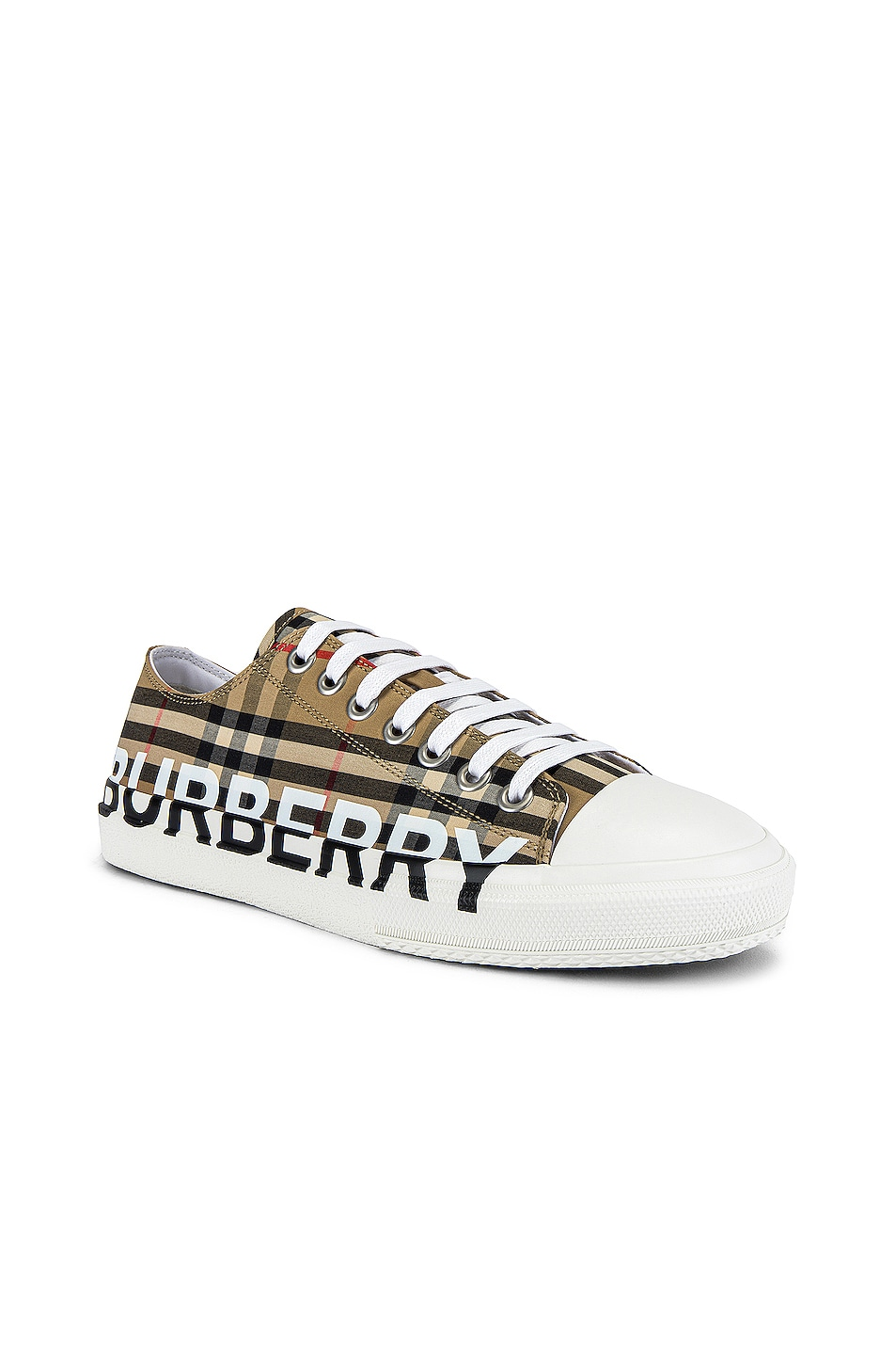 Image 2 of Burberry Larkhall Logo Low Top Sneaker in Archive Beige