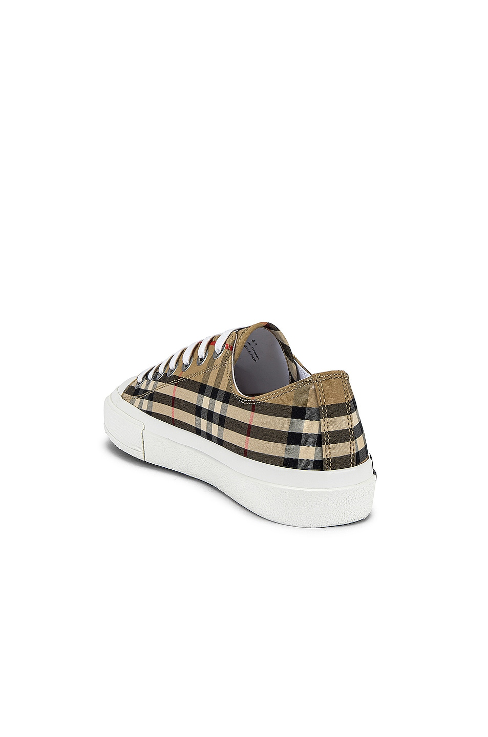 Image 3 of Burberry Larkhall Logo Low Top Sneaker in Archive Beige