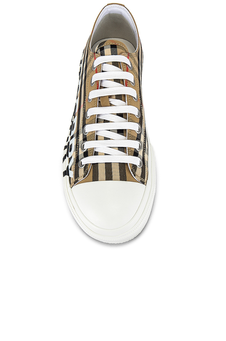 Image 4 of Burberry Larkhall Logo Low Top Sneaker in Archive Beige