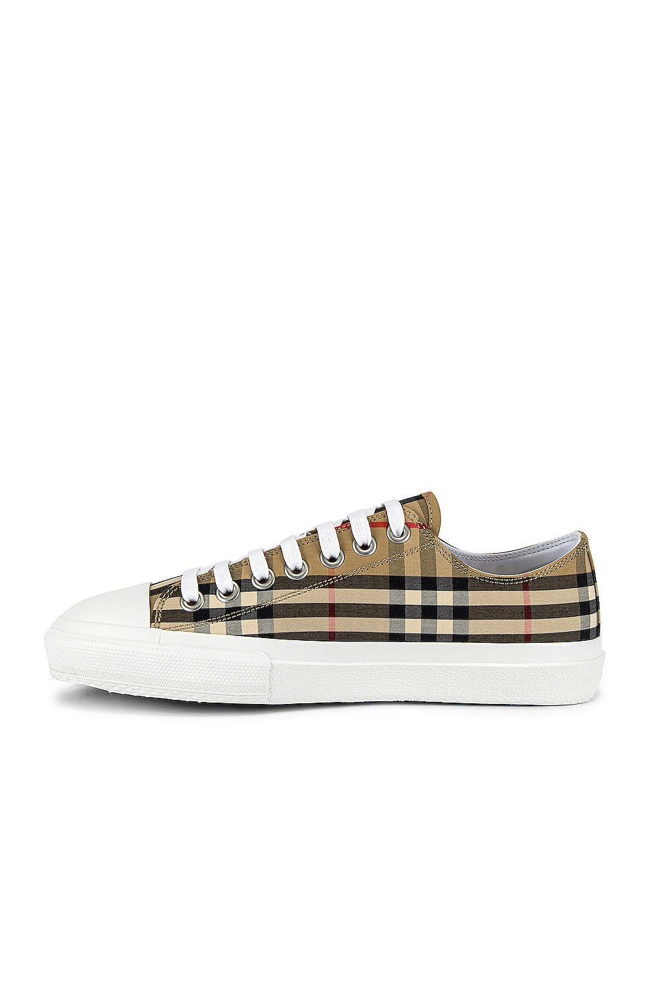 Image 5 of Burberry Larkhall Logo Low Top Sneaker in Archive Beige