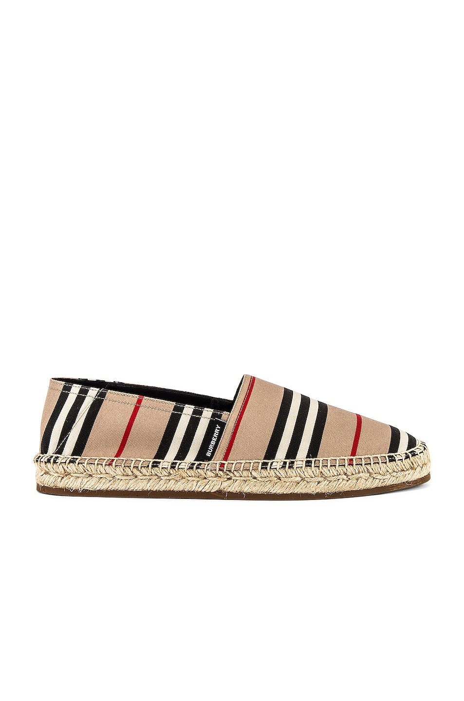 Image 1 of Burberry Alport Icon Espadrille in Archive Beige