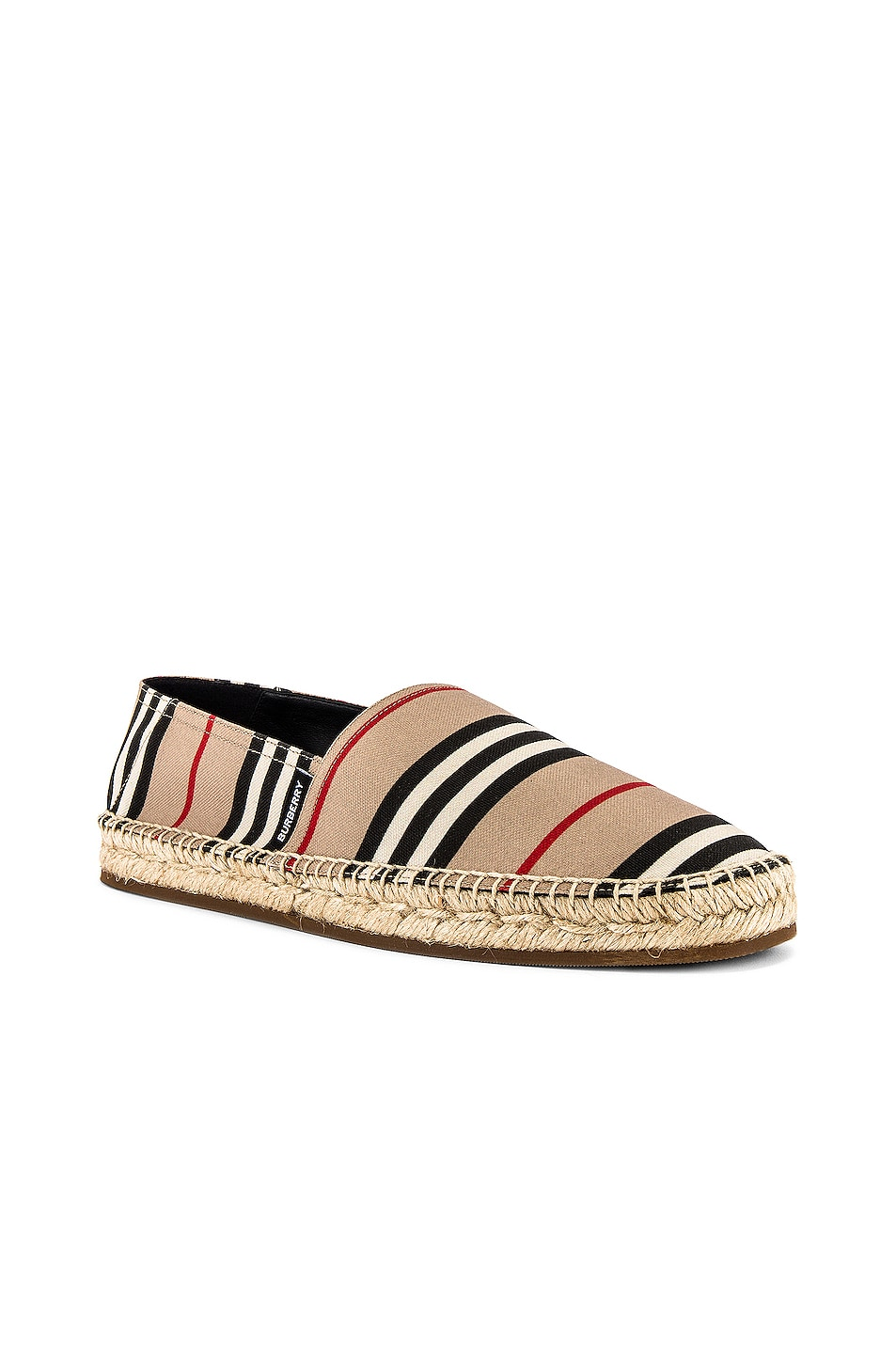 Image 2 of Burberry Alport Icon Espadrille in Archive Beige